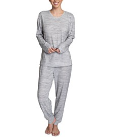 Marshmallow-Knit Long Sleeve Top & Jogger Lounge Set