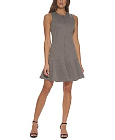 Petite Flounce-Hem Fit & Flare Dress