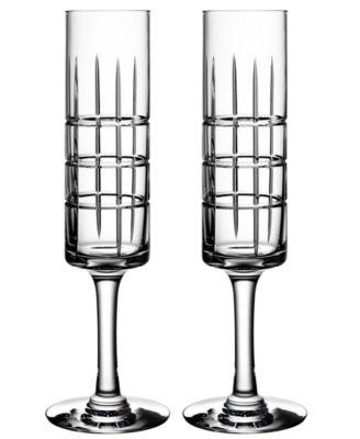 Orrefors Street Set of 2 Champagne Glasses