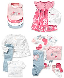 Baby Girls Floral & Butterfly Cotton Separates