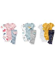 Baby Girls & Boys Cotton Bodysuit & Leggings Separates