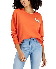 Juniors' Celestial Graphic-Print Fleece Sweatshirt