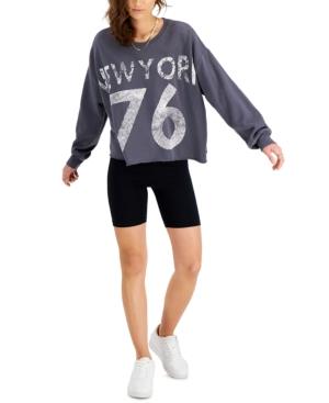 Juniors' New York Cutoff Sweatshirt