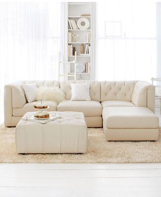 Rosario Leather Modular Living Room Furniture Collection With Sets Pieces