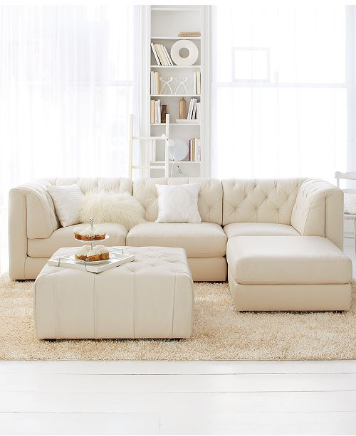 Furniture Rosario Leather Modular Living Room Furniture Collection