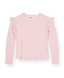 Big Girls Long Sleeve Drop Shoulder Top, Created for Macy's