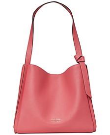 Knott Pebbled Leather Large Shoulder Bag