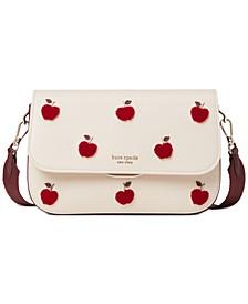 Buddie Apple Toss Leather Shoulder Bag