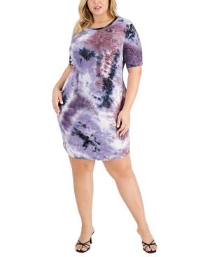 Trendy Plus Size Printed Bodycon Dress