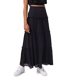 Women's Tiered Maxi Skirt