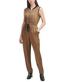 Sleeveless Drawstring-Waist Jumpsuit