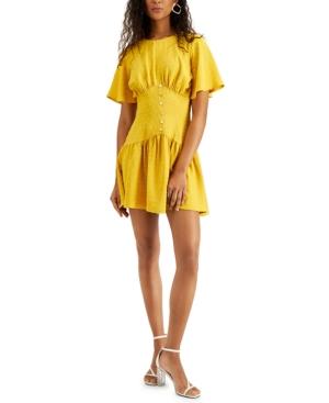 Corinne Clip-Dot Mini Dress