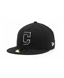 Cleveland Indians MLB Black and White Fashion 59FIFTY Cap