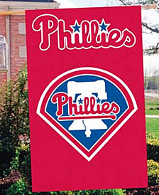 Party Animal Philadelphia Phillies Applique House Flag