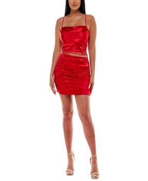 Juniors' Satin 2-Pc. Dress