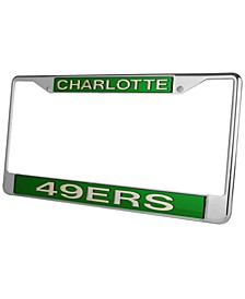 Charlotte 49ers Laser License Plate Frame