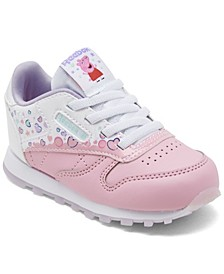 Toddler Girls Classic Leather Peppa Pig Casual Sneakers from Finish Line