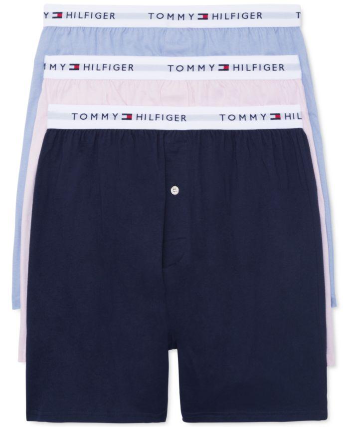 Tommy Hilfiger Men's 3-Pk. Classic Knit Cotton Boxers & Reviews - Underwear & Socks - Men - Macy's