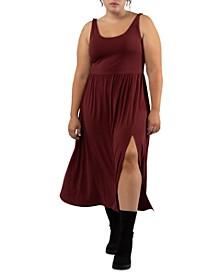 Trendy Plus Size Side-Slit Midi Dress