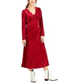 Cranberry Velvet Dress