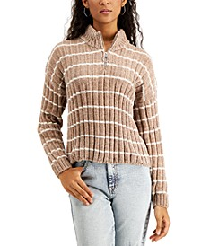 Juniors' Ribbed Chenille Sweater
