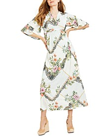 Jessica Simpson Kimono-Sleeve Wrap Maternity Dress