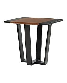 Venus Williams Collection Walnut Veneer Contemporary End Table