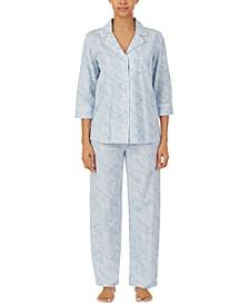 Printed Cotton Pajamas Set