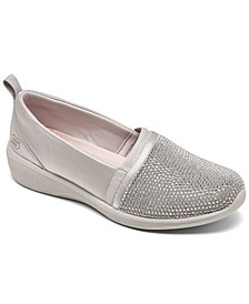 Women's Arya - Shine and Glow Slip-On Casual Sneakers from Finish Line