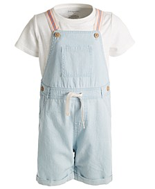 Toddler Boys 2-Pc. Cotton T-Shirt & Overalls Set, Created for Macy's