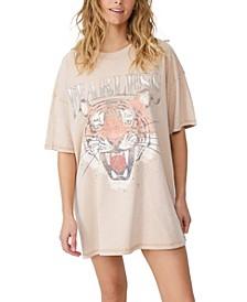 Women's Oversized Graphic T-Shirt Dress