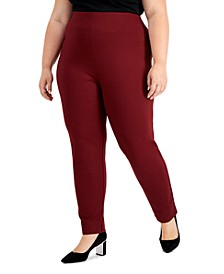 Plus Size Split Hem Pull-On Pants, Created for Macy's
