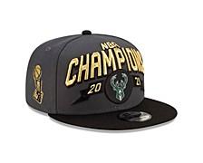 Milwaukee Bucks 2021 Locker Room Finals Champ 9FIFTY Cap