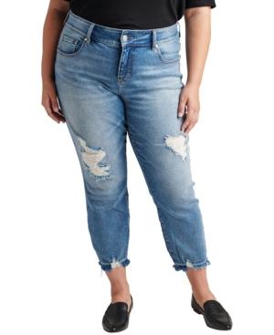 Plus Size Carter Mid Rise Girlfriend Jeans