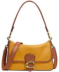 Tabby Soft Colorblocked Leather Shoulder Bag