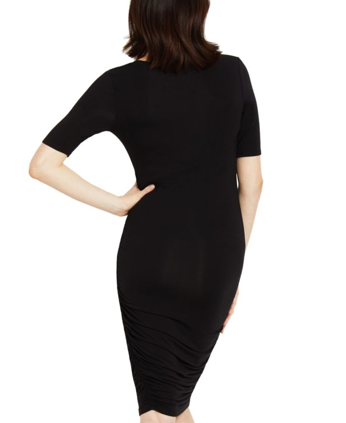 Motherhood Maternity Ruched Elbow-Sleeve Dress & Reviews - Maternity - Women - Macy's