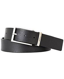 HUGO Men's Giaci Metal Loop Leather Belt