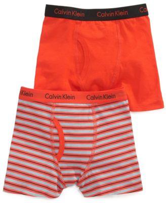 Calvin Klein Boys' 2-Pack Cotton Boxer Briefs - Accessories ...
