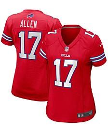 Women's Josh Allen Red Buffalo Bills Alternate Game Jersey