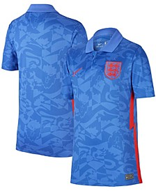 Youth Boys and Girls Blue England National Team 2020/21 Away Stadium Replica Jersey