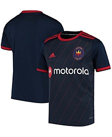 Youth Boys and Girls Navy Chicago Fire 2020 Replica Blank Primary AEROREADY Jersey