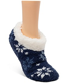 Faux-Fur Slipper Socks