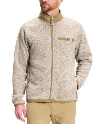 노스페이스 맨 플리스 스웨터 The North Face Mens Gordon Lyons Standard-Fit Full-Zip Fleece Sweater,Bleached Sand Heather/kelp Tan