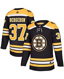 Men's Patrice Bergeron Black Boston Bruins Authentic Player Jersey