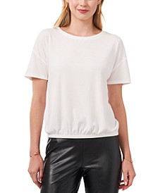 Solid Ribbed Knit Top