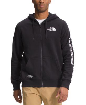 노스페이스 맨 후드티 The North Face Mens Brand Proud Standard-Fit Logo-Print Full-Zip Fleece Hoodie