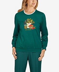 Plus Size Classics Give Thanks Pullover Top