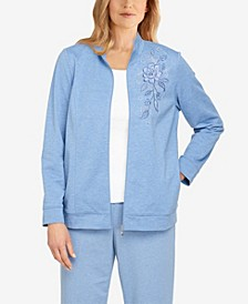 Plus Size Relax and Enjoy Embroidered Jacket