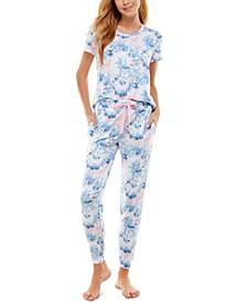 Scoop Neck T-Shirt & Jogger Pants Pajama Set