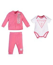 Baby Boys and Girls 3 Piece Jogger Set
